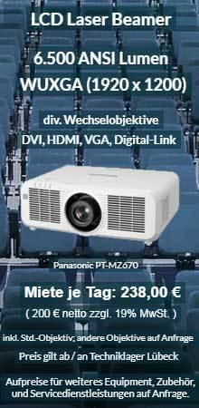 Angebot zum Projektor ausleihen WUXGA Laser Projektor Panasonic PT MZ670