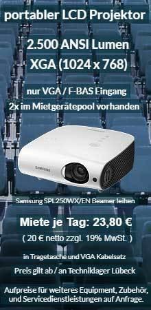 Angebot für Projektor Ausleih: Samsung XGA LCD Projektor SP L250W